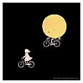 20120826-晚上騎車,有沒有人覺得,月亮也都頑皮地跟著騎?