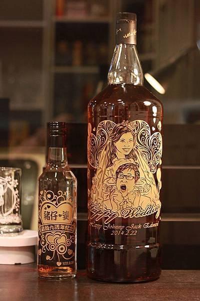 歐柏拉酒瓶雕刻 超大威士忌雕刻