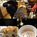 狗拉雪橇場主人沖著熱可可 及做好了蛋糕給我們當點心.jpg