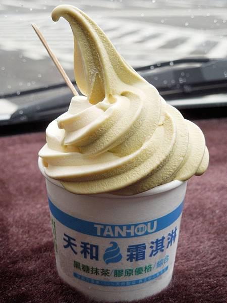 台北,天和鮮物,天和霜淇淋,黑糖抹茶、膠原優格,85分。