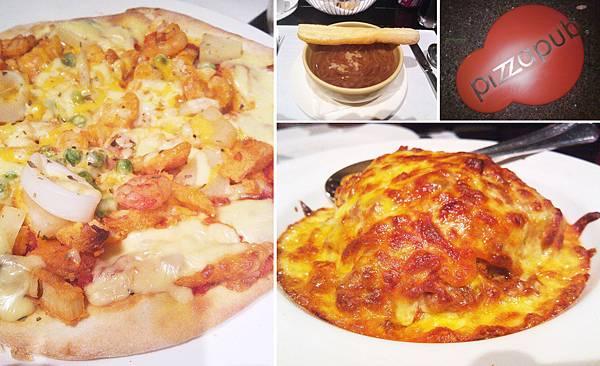 台北,喜來登,比薩屋,主廚特製海鮮比薩、爐烤牛肉千層麵、洋蔥湯,90分!