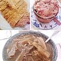 台北,老張担担麵,蕃茄紅燒半筋半肉麵、乾炸排骨、粉蒸肥腸,90分!