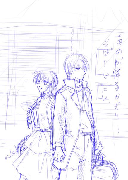 月森x日野(草圖)