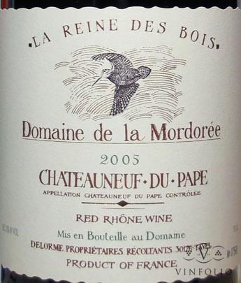 Domaine de la Mordoree Chateauneuf du Pape Cuvee de la Reine des Bois.jpg