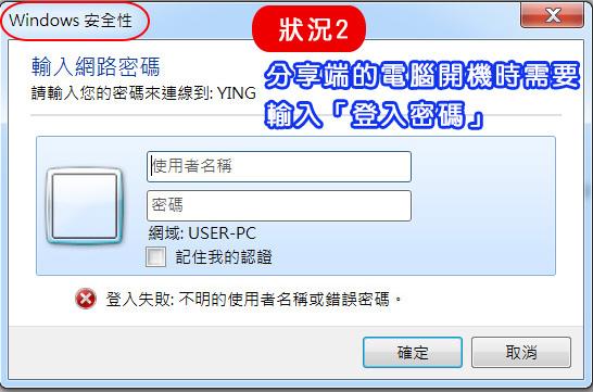 輸入網路密碼