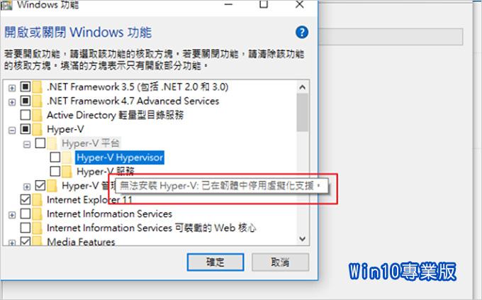 無法安裝Hyper-V已在韌體中停用虛擬化支援.jpg