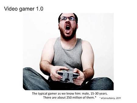 【圖一:傳統遊戲都被認為是宅男在玩。資料來源:2011 eConsultancy】