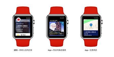 【參考圖片】Hotels.com 搶先推出支援Apple Watch的訂房APP