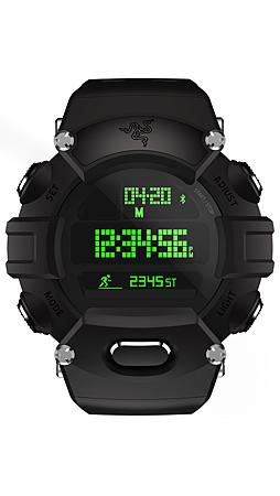 1. 標準版 Razer Nabu Watch 採用強韌聚碳酸酯材料打造並以 Razer 經典綠襯托.png