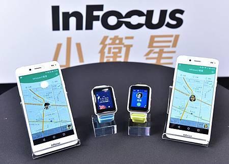 InFocus 小衛星兒童定位手錶,主打安心定位功能,包含撥接通話、收短訊、緊急 SOS 求救鍵、跑走記錄追蹤等多功能,上市後持續發展軟體加值服務,守護兒童安全與健康。.jpg