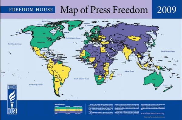 Map of Press Freedom 2009