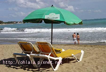 加勒比海的躺椅