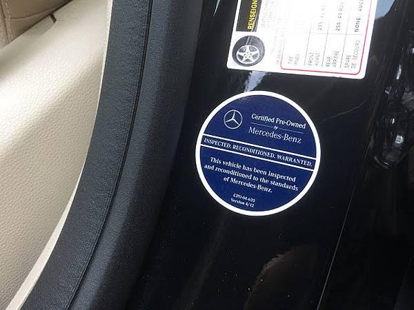 CPO的車身上面會有一張貼紙.JPG