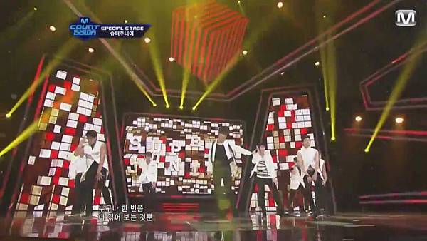 【HD 720p Live】120802 Super Junior - Sexy, Free & Single + SPY (Special Stage) @ M! Countdown - YouTube.mp40441