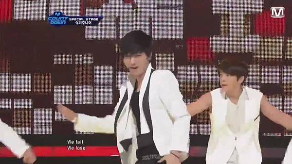 【HD 720p Live】120802 Super Junior - Sexy, Free & Single + SPY (Special Stage) @ M! Countdown - YouTube.mp40500