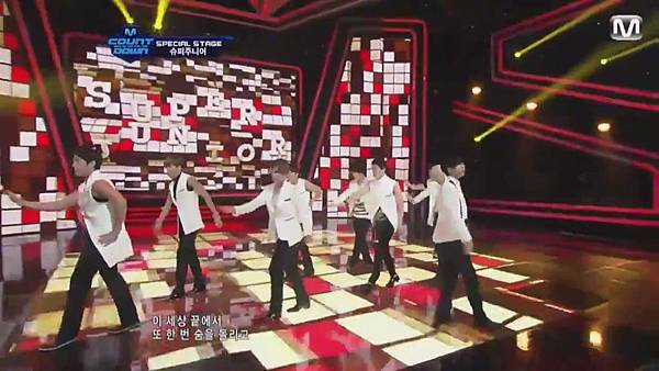 【HD 720p Live】120802 Super Junior - Sexy, Free & Single + SPY (Special Stage) @ M! Countdown - YouTube.mp40975