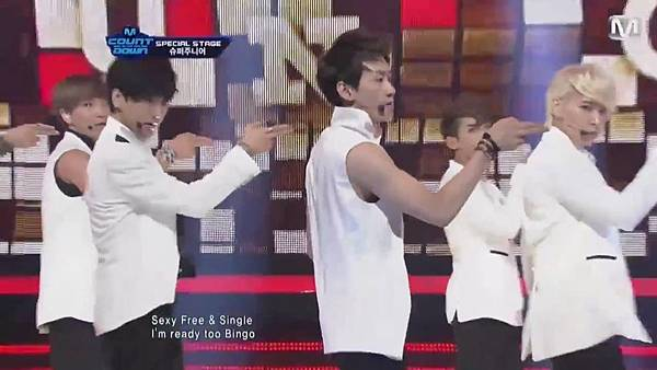 【HD 720p Live】120802 Super Junior - Sexy, Free & Single + SPY (Special Stage) @ M! Countdown - YouTube.mp41700
