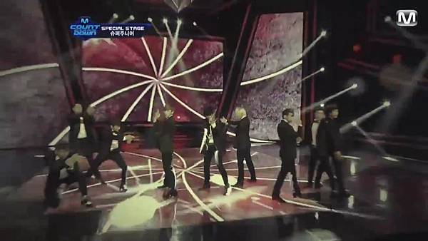 【HD 720p Live】120802 Super Junior - Sexy, Free & Single + SPY (Special Stage) @ M! Countdown - YouTube.mp42342