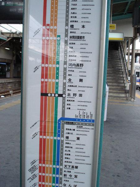現在在北野田 要轉車