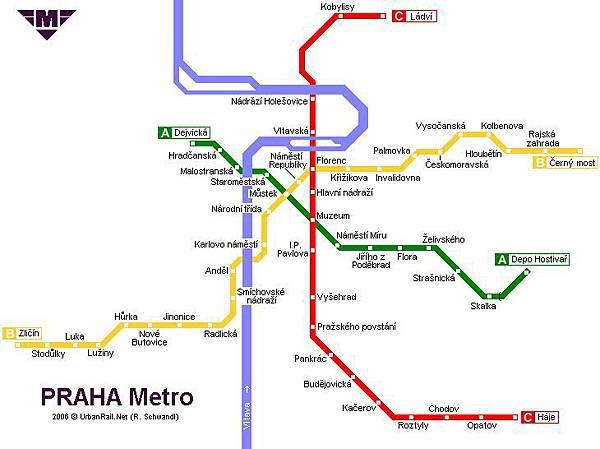 布拉格地鐵地圖
