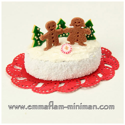 Gingerbread Folk Christmas Cake
