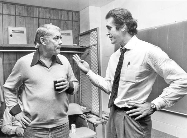 Jerry Buss 與SHOW TIME時期教頭 Pat Riley