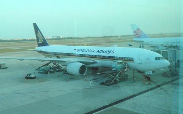 10/25 飛往新加坡的班機