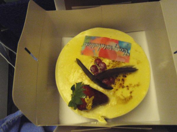 10/25 新航送的蜜月蛋糕