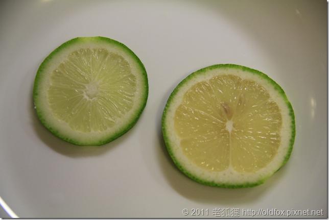 檸檬與萊姆切片