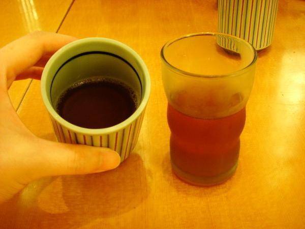 紅葡萄醋和麥茶