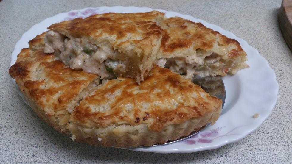 燻雞鮪魚派