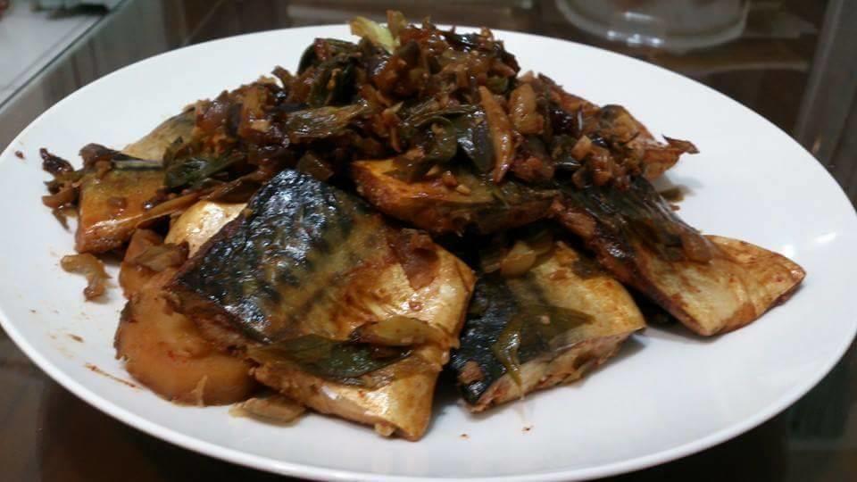 馬鈴薯燉青花魚고등어감자조림