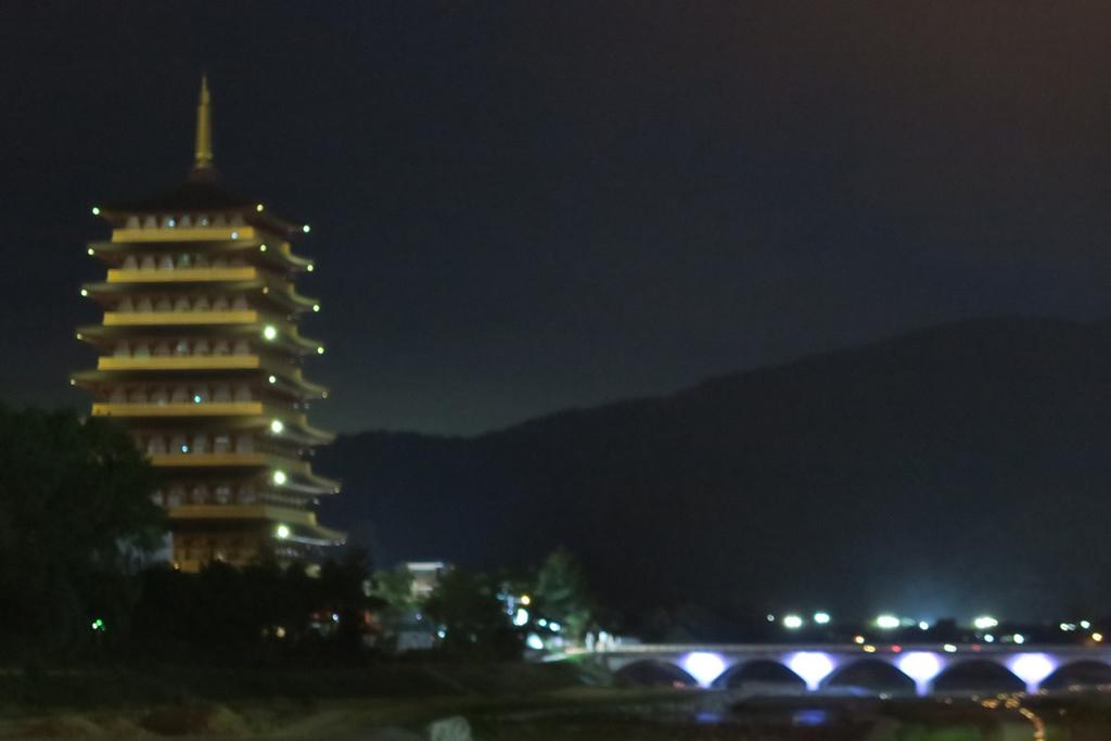 新羅橋和中島研修院高塔