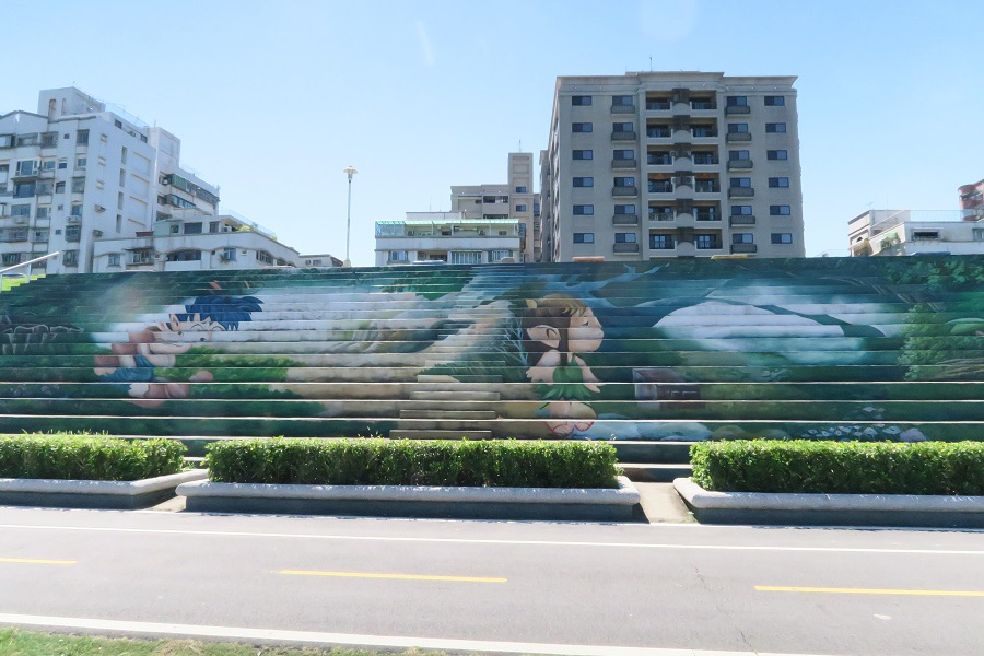 新北河堤彩繪階梯