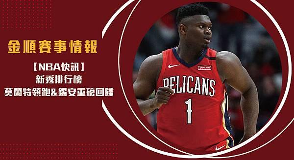 【NBA】新秀排行榜 莫蘭特領跑_錫安重磅回歸(精彩回顧)