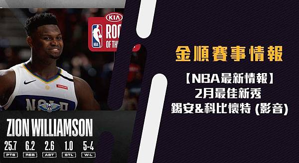 NBA2月最佳新秀 錫安_科比懷特 (影音) (2)