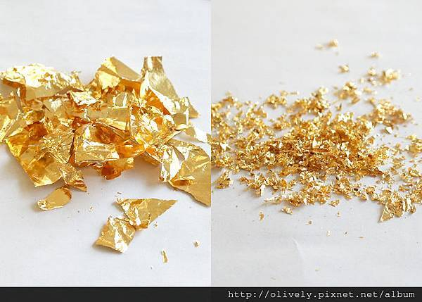 gold flakes