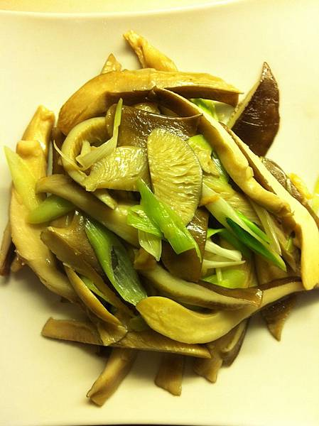 cooked baofish mushroom