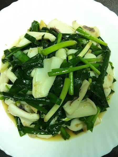 韭菜炒軟絲