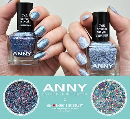 快乾好擦的藍色系亮片指甲油♥ANNY時尚指甲油 璀璨新年系列
