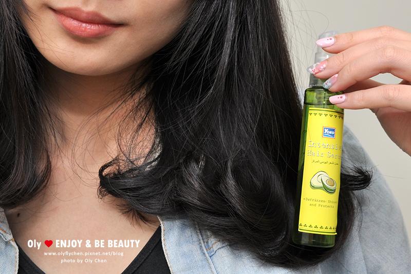 電棒前護髮保養。YOKO優果 酪梨髮柔精華液