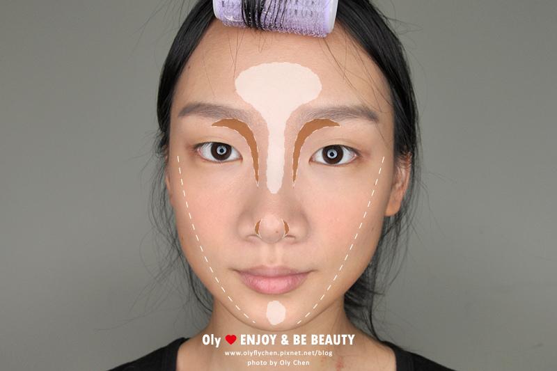 修容教學 方形臉修容