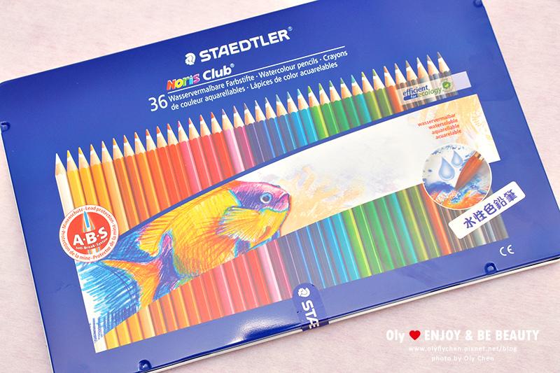 水溶性色鉛筆比較 施德樓36色水溶性色鉛筆