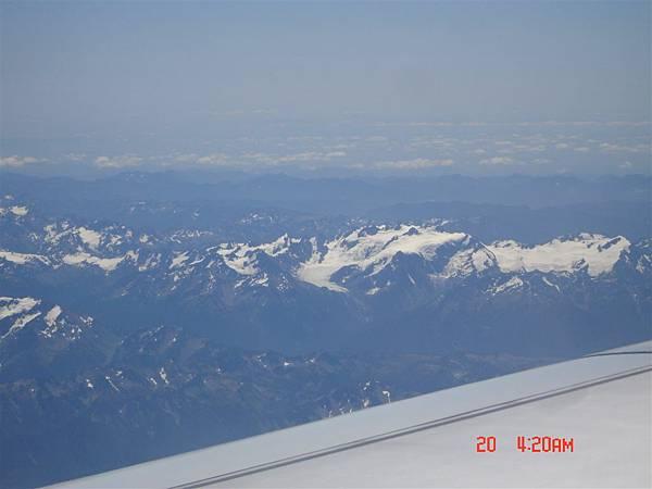 飛機降落前俯瞰西雅圖