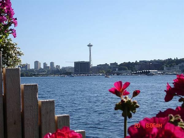 在甲板社區就可以看到西雅圖的地標唷