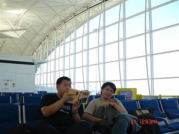 香港機場漫長的等待