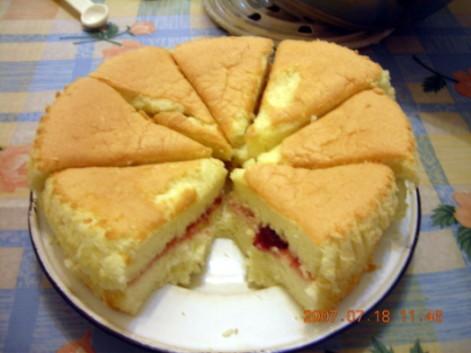 草莓果醬戚風蛋糕