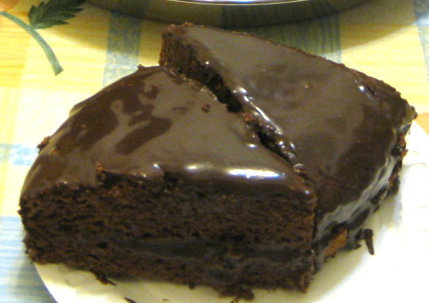 巧克力蛋糕切片