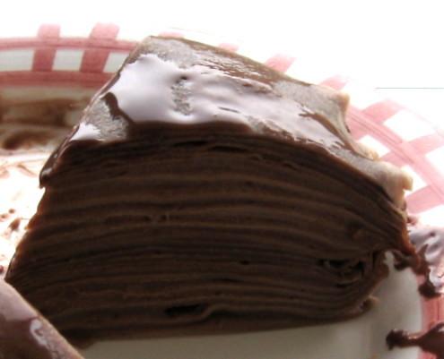 巧克力千層薄餅
