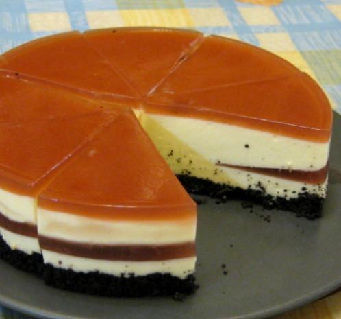 優格乳酪慕斯+雙層覆盆子果凍